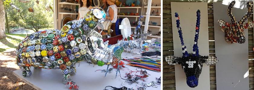 Andrew Dambuleni - craft artist at Spier Craft Market