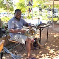 Godfrey Dambuleni - craft artist at Spier Craft Market