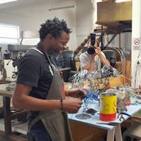 Tendai Mahlengwe - craft artist at Spier Craft Market