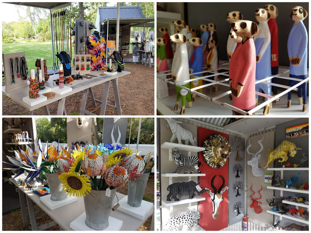 The craft Market at Spier 2018-2019 - beaded flowers and other craft art