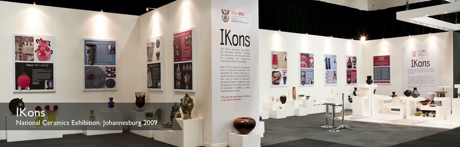 Slide of iKons Ceramic Showcase, Decorex Johannesburg